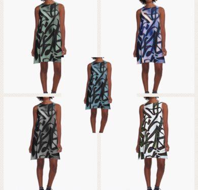Versatile Graffiti A-line dress