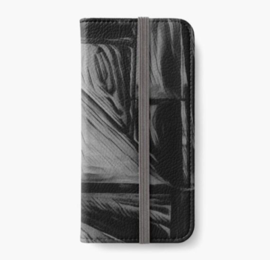 Black iPhone wallets
